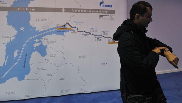 Схема второй ветки газопровода Северный поток. Архивное фото