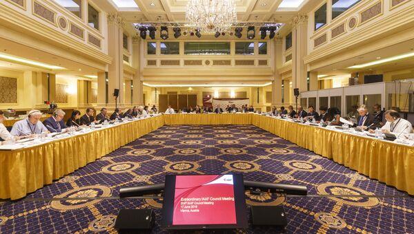 Заседание Совета Международной ассоциации легкоатлетических федераций (IAAF) в Вене, Австрия. Архивное фото