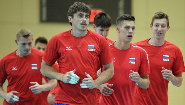 Волейбол. Тренировка мужской сборной России. Архивное фото