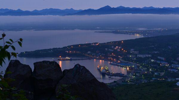Вид Петропавловска-Камчатского с Мишенной горы