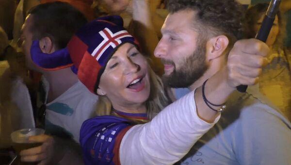 Ликование исландцев и грустная песня англичан после 1/8 финала Евро-2016