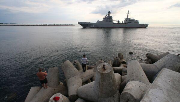 Большой десантный корабль Иван Грен вышел в море на ходовые испытания