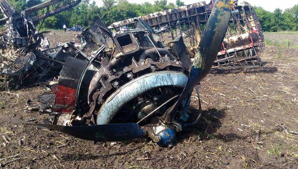 Самолет Ан-2, разбившийся в Саратовской области