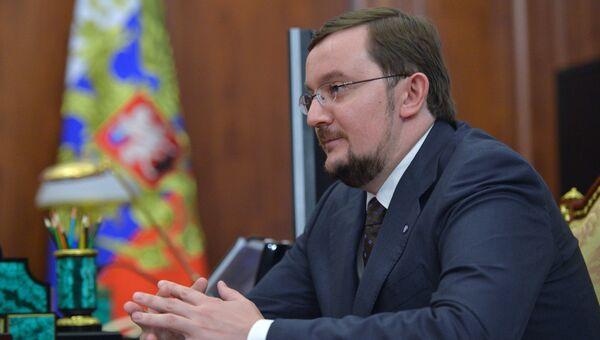 Президент организации Деловая Россия Алексей Репик во время встречи c президентом России Владимиром Путиным