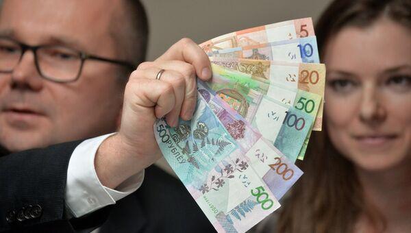 Презентация новых денежных купюр Белоруссии. Архивное фото