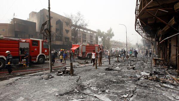 Последствия террористического акта в Багдаде