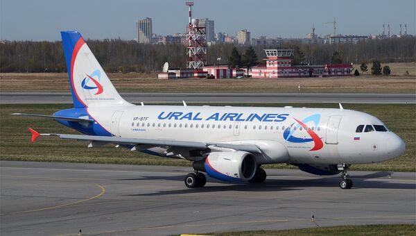 Самолет Airbus A319-112 авиакомпании Уральские авиалинии. Архивное фото