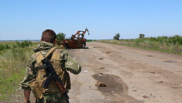 Военнослужащие Народной милиции ЛНР в Донбассе. Архивное фото