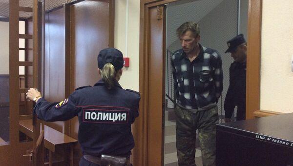 Арестованный гражданин Эстонии Калле Пялло в суде Санкт-Петербурга