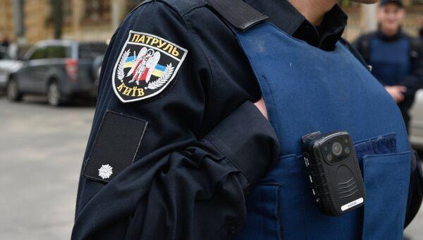 Сотрудник украинской полиции. Архивное фото