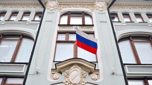 Фасад здания Центральной избирательной комиссии