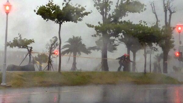 Тайфун на Тайване. Архивное фото