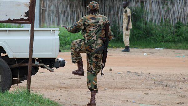 Полицейский в столице Южного Судана Джубе