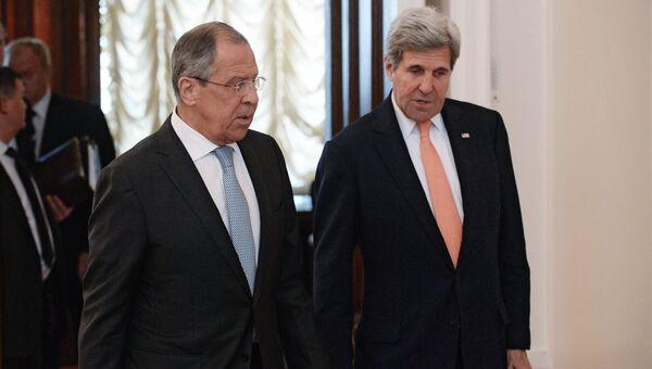 Встреча главы МИД РФ С. Лаврова с Госсекретарем США Дж.Керри в Москве