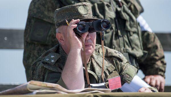 Военные учения на полигоне Алагяз в Армении. Архивное фото