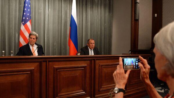 Сергей Лавров и Джон Керри на встрече в Москве. 15 июля 2016