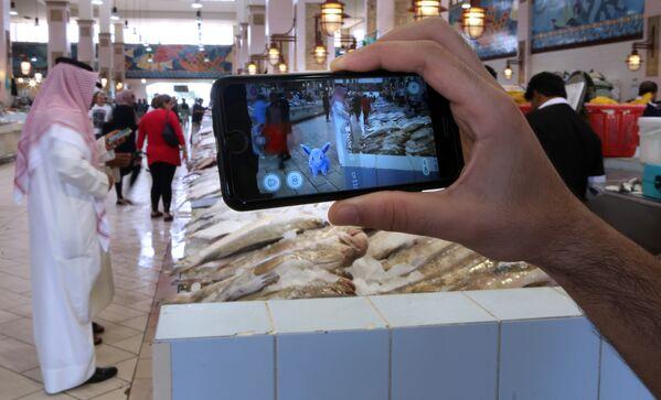 Pokemon Go на рыбном рынке Эль-Кувейта, Кувейт