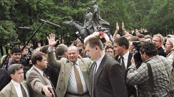 Лидер КПРФ Геннадий Зюганов - кандидат на пост Президента РФ на выборах 1996 года