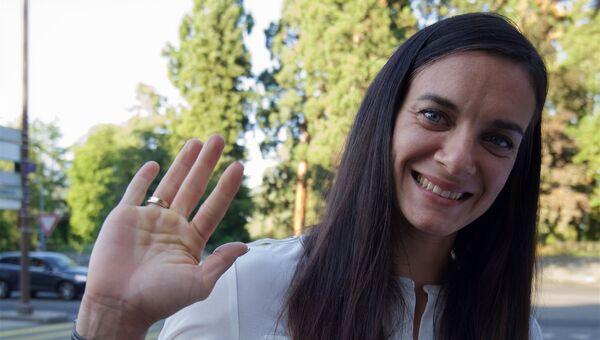 Елена Исинбаева после заседания Спортивного арбитражного суда в Женеве
