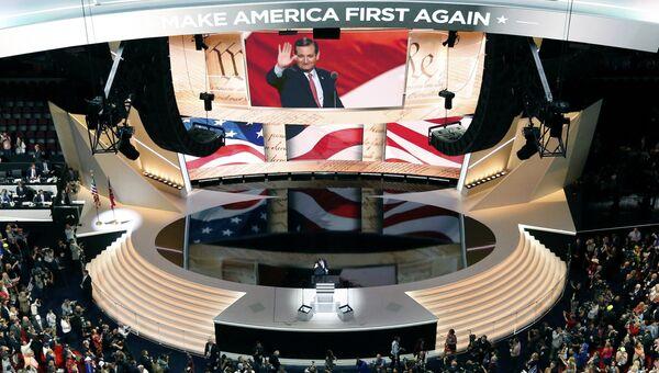 Тед Круз на съезде Республиканской партии США в Огайо