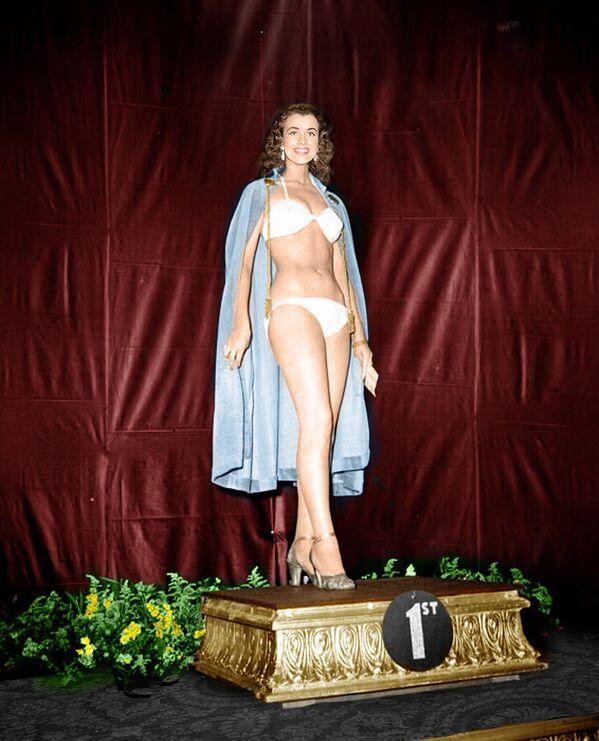 Первая победительница конкурса Мисс Мира Кикки Хоканссон, 1951 год