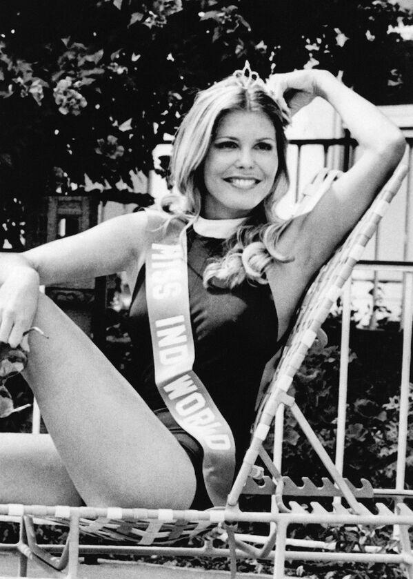 Победительница конкурса Мисс Мира Марджори Уоллес из США, 1973 год