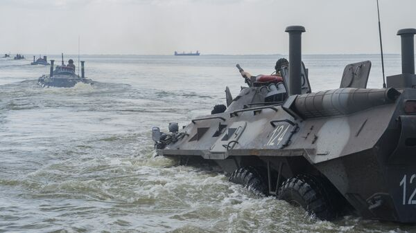 Украинские военные во время учений Sea Breeze. Архивное фото