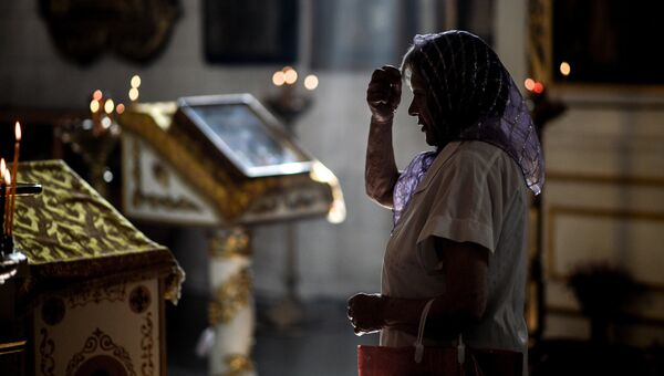 Богослужение в Покровском соборе Великого Новгорода, посвященное празднику Крещения Руси