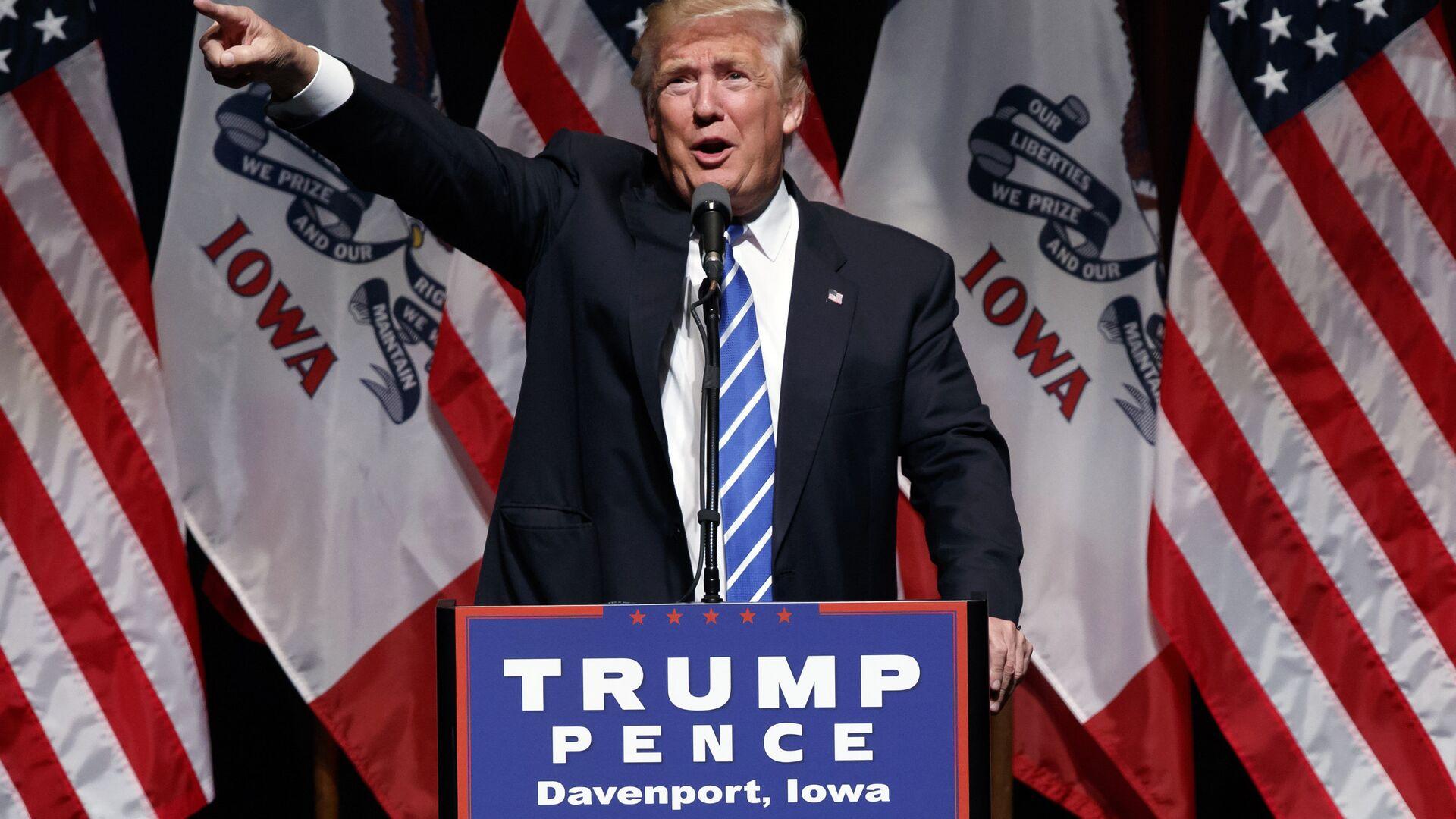 Кандидат в президенты США от Республиканской партии Дональд Трамп. 28 июля 2016 - РИА Новости, 1920, 16.10.2020