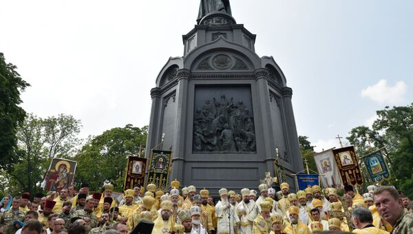 Крестный ход Украинской православной церкви в Киеве. Архивное фото.