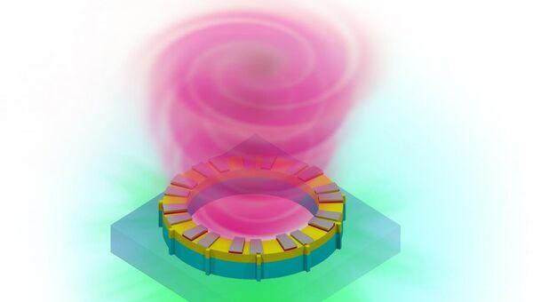 Так художник представил себе луч лазера, закрученный в спираль