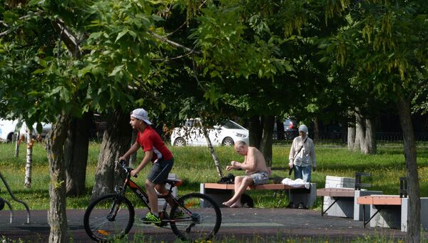 Лето в Москве. Архивное фото