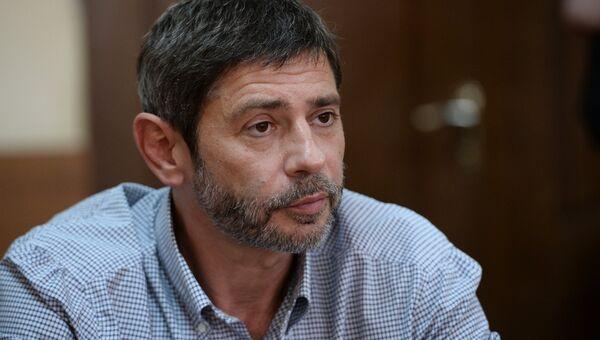 Актер Валерий Николаев, обвиняемый в нападении на полицейского, в Пресненском суде Москвы. 1 августа 2016