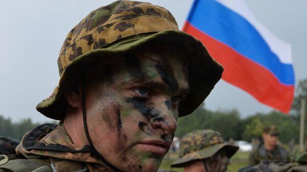 Военнослужащий вооруженных сил России во время международных армейских игр. Архивное фото