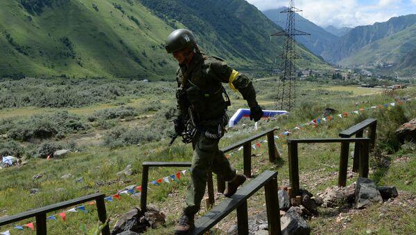 Военнослужащий в Кабардино-Балкарии. Архивное фото