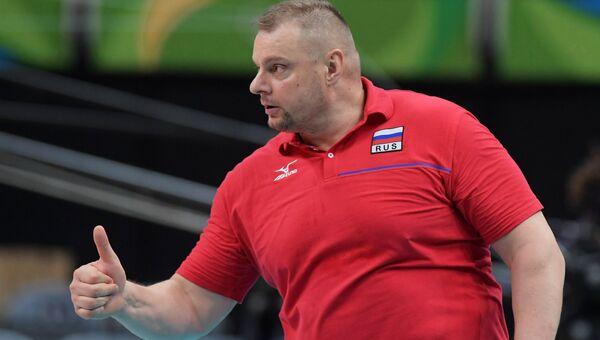 Главный тренер сборной России Владимир Алекно на XXXI летних Олимпийских играх.