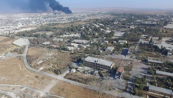 В районе училища тыла на юго-западе Алеппо в Сирии. Архивное фото