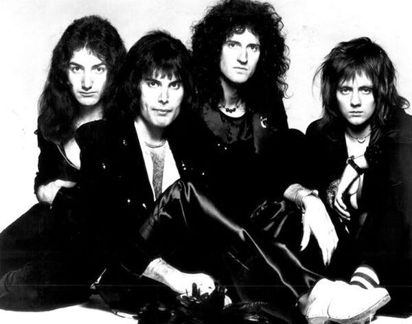 Группа Queen с солистом Фредди Меркьюри