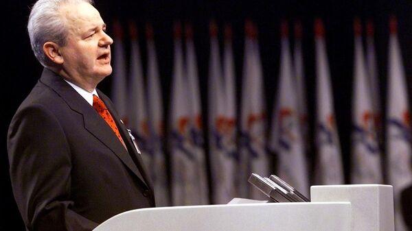 Бывший президент Югославии Слободан Милошевич