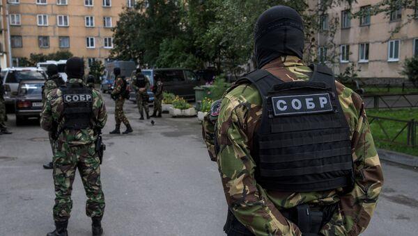 Операция по задержанию кавказских боевиков в Санкт-Петербурге. Архивное фото