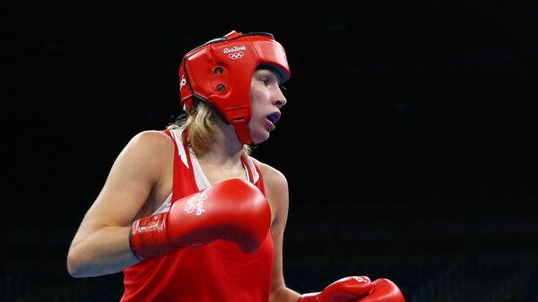 Российская боксерша Анастасия Белякова во время Олимпийских игр в Рио-де-Жанейро. 15 августа 2016