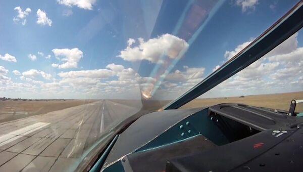 Авиаудары бомбардировщиков Су-34 ВКС РФ с авиабазы Хамадан по объектам ИГ. Архивное фото