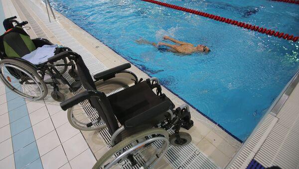 Тренировка паралимпийца. Архивное фото