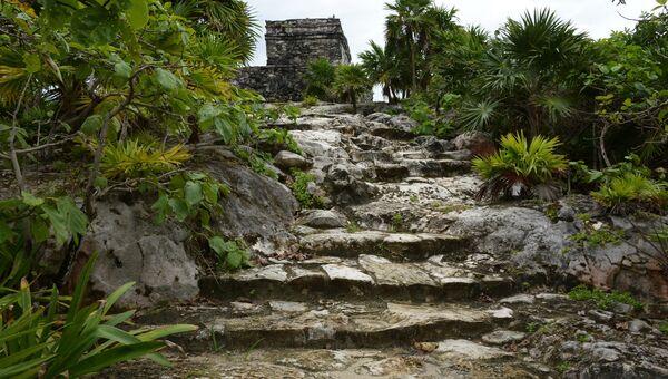 Руины города Тулум цивилизации майя в Мексике. Архивное фото
