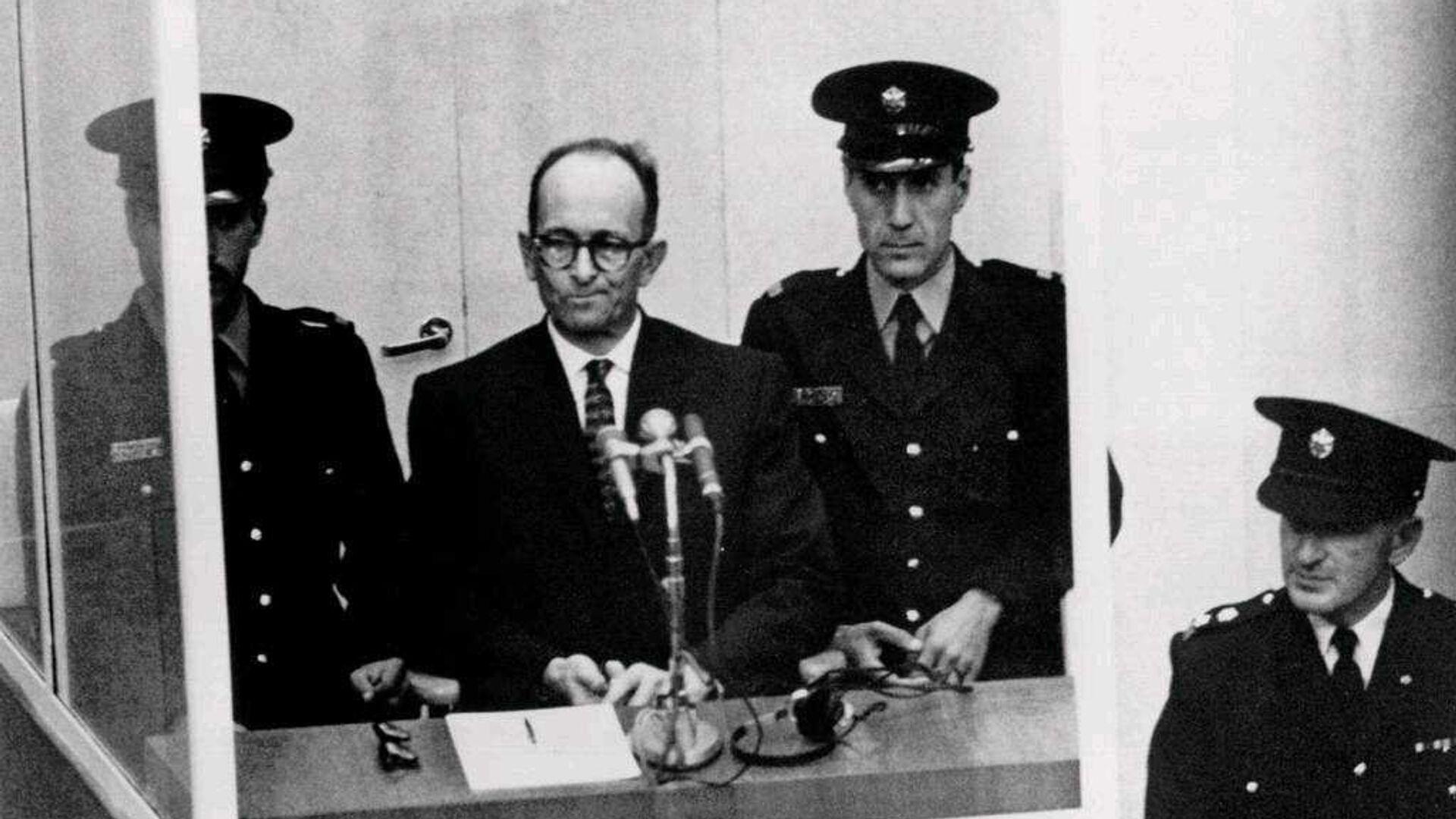Суд над Адольфом Эйхманом в Израиле. 1961 год  - РИА Новости, 1920, 10.05.2021