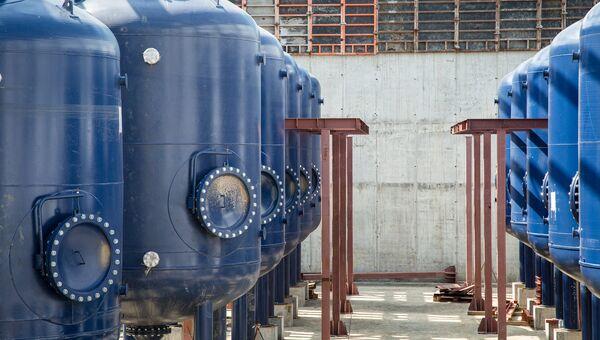 Монтаж блока угольных фильтров очистной системы Биосфера начался на МНПЗ