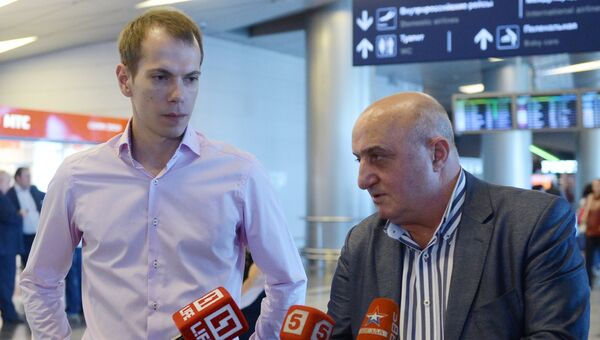 Россиянин Сергей Миронов и адвокат Карен Нерсесян. Архивное фото