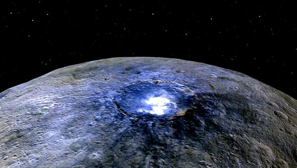 Кратер Оккатор на карликовой планете Церера