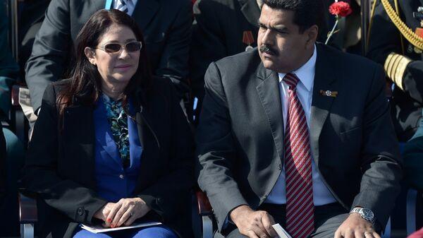 Президент Боливарианской Республики Венесуэла Николас Мадуро с супругой Силией Флорес