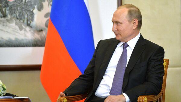 Президент РФ Владимир Путин в преддверии саммита Группы двадцати в китайском городе Ханчжоу. Архивное фото